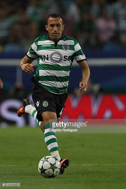 Sporting CP's defender Jefferson from Brazil during the Sporting Clube de Portugal v Legia Warszawa UEFA Champions League round two match at Estadio...