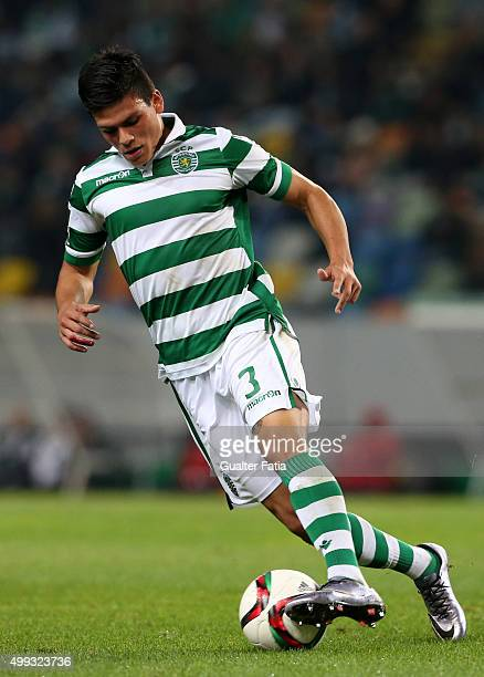 Sporting CP's defender Jonathan Silva in action during the Primeira Liga match between Sporting CP and Os Belenenses at Estadio Jose Alvalade on...