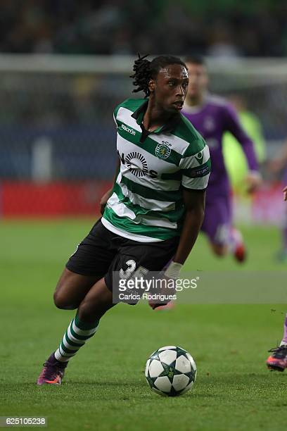 Sporting CP's defender Ruben Semedo from Portugal during the Sporting Clube de Portugal v Real Madrid CF UEFA Champions League round five match at...