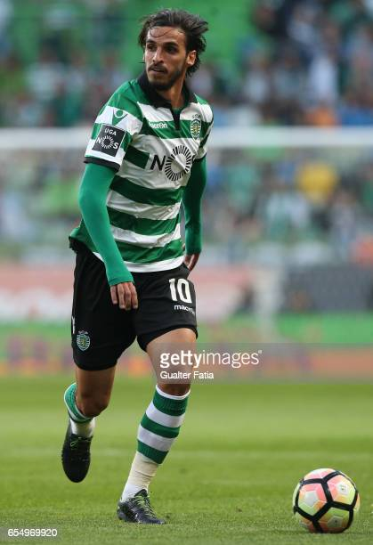 Sporting CP's forward Bryan Ruiz from Costa Rica in action during the Primeira Liga match between Sporting CP and CD Nacional at Estadio Jose...