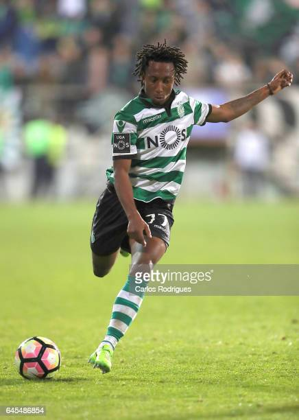 Sporting CP's forward Gelson Martins from Portugal during the match between Estoril Praia SAD and Sporting CP for the Portuguese Primeira Liga at...