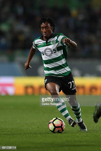 Sporting CP's forward Gelson Martins from Portugal during the Sporting CP v CD Feirense Portuguese Primeira Liga match at Estadio Jose Alvalade on...