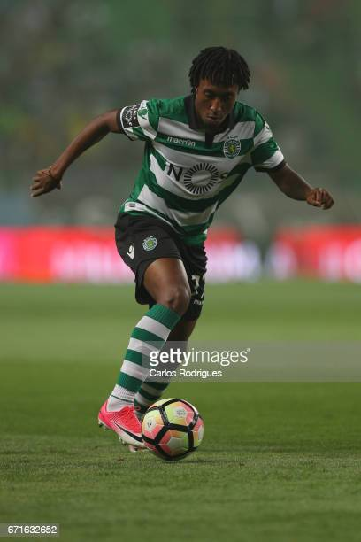 Sporting CP's forward Gelson Martins from Portugal during the Sporting CP v SL Benfica Portuguese Primeira Liga match at Estadio Jose Alvalade on...