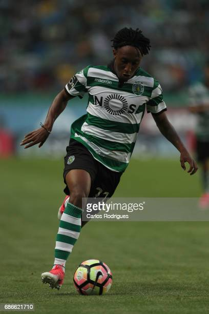 Sporting CP's forward Gelson Martins from Portugal during the Sporting CP v GD Chaves Portuguese Primeira Liga match at Estadio Jose Alvalade on May...