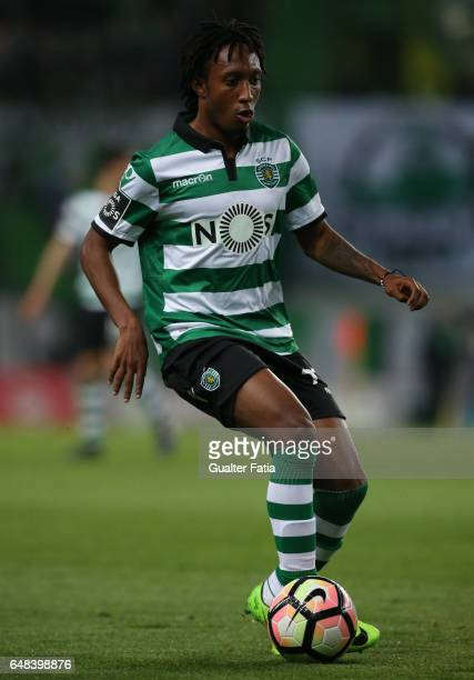 Sporting CP's forward Gelson Martins from Portugal in action during the Primeira Liga match between Sporting CP and Vitoria Guimaraes at Estadio Jose...