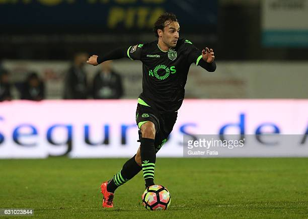 Sporting CP's forward Lazar Markovic from Serbia in action during Portuguese League Cup match between Vitoria Setubal and Sporting CP at Estadio do...