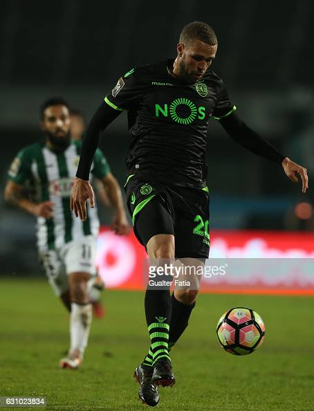 Sporting CP's forward Luc Castaignos from Holland in action during Portuguese League Cup match between Vitoria Setubal and Sporting CP at Estadio do...