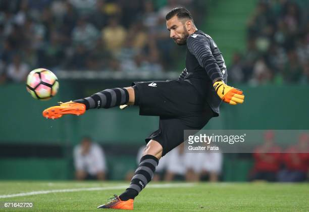 Sporting CPÕs goalkeeper Rui Patricio from Portugal in action during the Primeira Liga match between Sporting CP and SL Benfica at Estadio Jose...