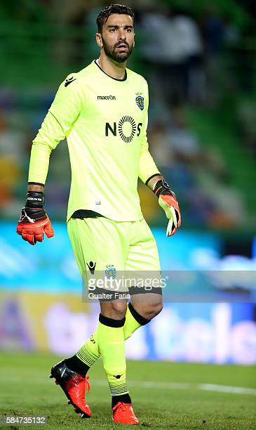 Sporting CP's goalkeeper Rui Patricio in action during the Pre Season Friendly match between Sporting CP and Wolfsburg at Estadio Jose Alvalade on...