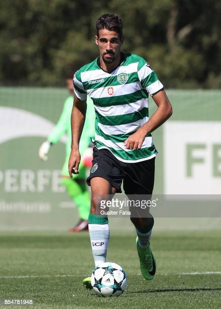 Sporting CP's Goulart Silva in action during the UEFA Youth League match between Sporting CP and FC Barcelona at CGD Stadium Aurelio Pereira on...