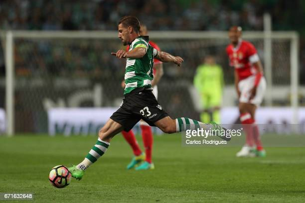 Sporting CP's midfielder Adrien Silva from Portugal during the Sporting CP v SL Benfica Portuguese Primeira Liga match at Estadio Jose Alvalade on...