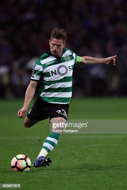 Sporting CP's midfielder Adrien Silva from Portugal during the FC Porto v Sporting CP Primeira Liga match at Estadio do Dragao on February 04 2017 in...