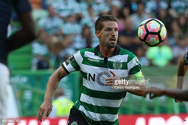 Sporting CP's midfielder Adrien Silva from Portugal during the Portuguese Primeira Liga between Sporting CP and Moreirense FC at Estadio Jose...