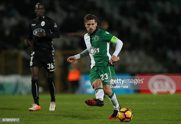 Sporting CPÕs midfielder Adrien Silva in action during Portuguese Cup match between Vitoria Setubal and Sporting CP at Estadio do Bonfim on December...