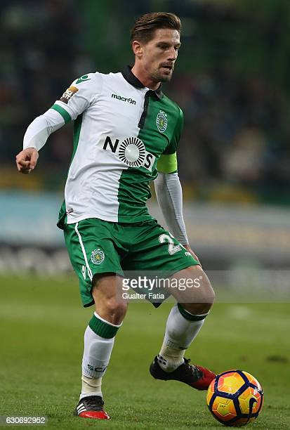 Sporting CP's midfielder Adrien Silva in action during the Portuguese League Cup match between Sporting CP and Varzim SC at Estadio Jose Alvalade on...