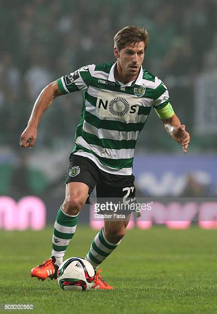 Sporting CP's midfielder Adrien Silva in action during the Primeira Liga match between Sporting CP and FC Porto at Estadio Jose Alvalade on January 2...