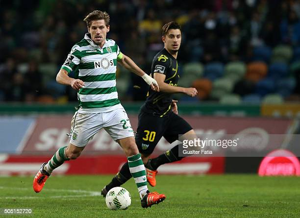 Sporting CP's midfielder Adrien Silva in action during the Primeira Liga match between Sporting CP and CD Tondela at Estadio Jose Alvalade on January...