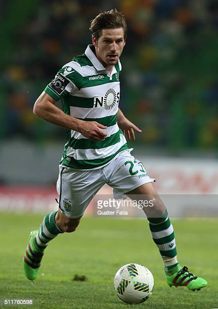 Sporting CP's midfielder Adrien Silva in action during the Primeira Liga match between Sporting CP and Boavista at Estadio Jose Alvalade on February...