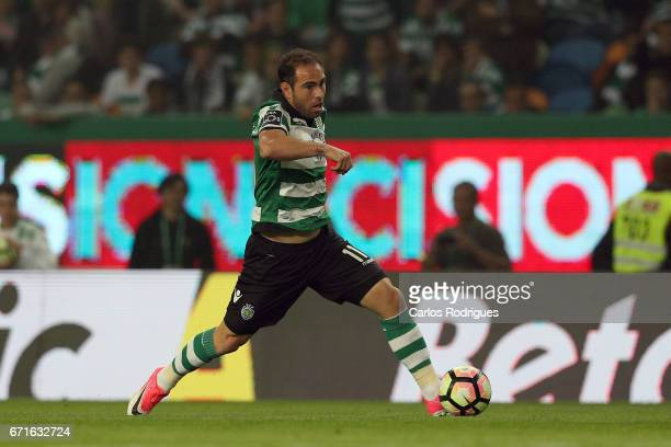 Sporting CP's midfielder Bruno Cesar from Brazil during the Sporting CP v SL Benfica Portuguese Primeira Liga match at Estadio Jose Alvalade on April...