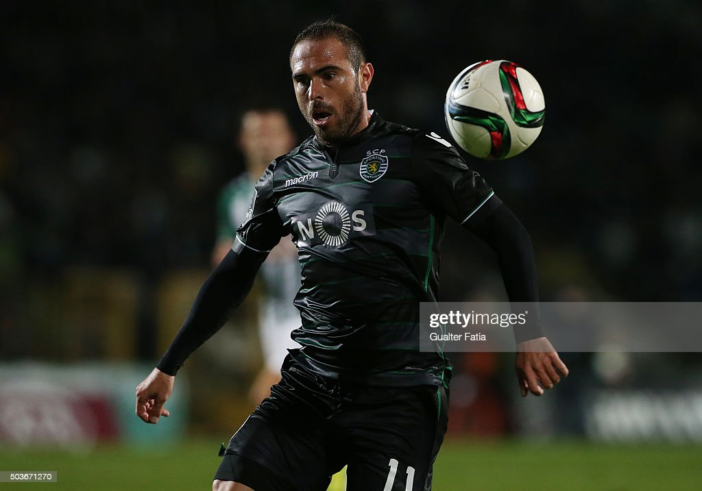 Sporting CPÕs midfielder Bruno Cesar in action during the Primeira Liga match between Vitoria Setubal and Sporting CP at Estadio do Bonfim on January 6, 2016 in Setubal, Portugal.