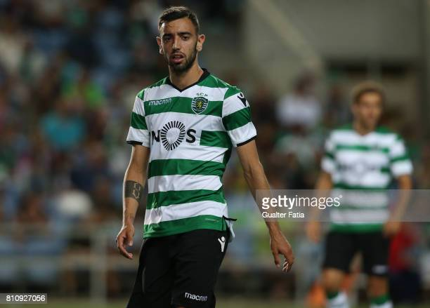 Sporting CPÕs midfielder Bruno Fernandes from Portugal during the PreSeason Friendly match between Sporting CP and CF Os Belenenses at Estadio...