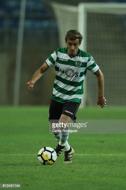 Sporting CP's midfielder Francisco Geraldes from Portugal during the PreSeason Friendly match between Sporting CP and CF' Belenenses at Estadio do...