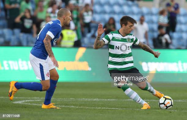 Sporting CPÕs midfielder Iuri Medeiros from Portugal in action during the PreSeason Friendly match between Sporting CP and CF Os Belenenses at...
