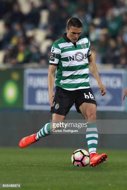 Sporting CP's midfielder Joao Palhinha from Portugal during the match between Estoril Praia SAD and Sporting CP for the Portuguese Primeira Liga at...
