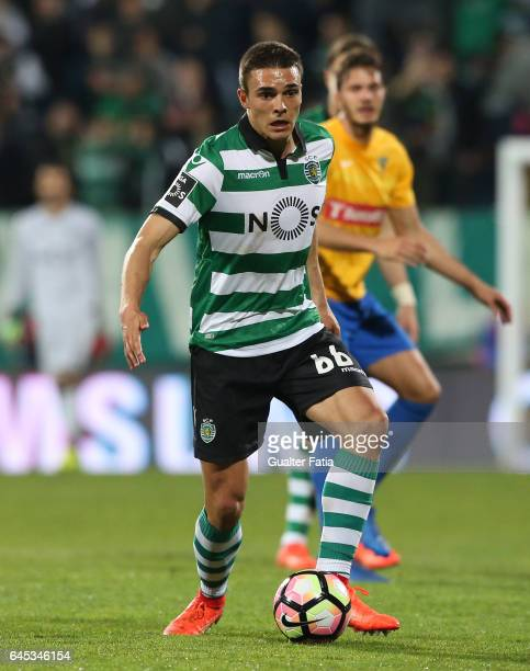 Sporting CP's midfielder Joao Palhinha from Portugal in action during the Primeira Liga match between GD Estoril Praia and Sporting CP at Estadio...