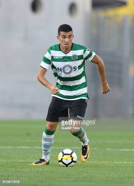 Sporting CPÕs midfielder Rodrigo Battaglia from Argentina in action during the PreSeason Friendly match between Sporting CP and CF Os Belenenses at...