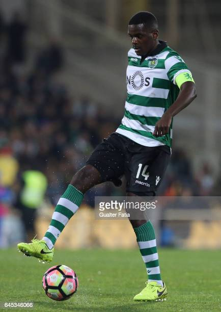 Sporting CP's midfielder William Carvalho from Portugal in action during the Primeira Liga match between GD Estoril Praia and Sporting CP at Estadio...
