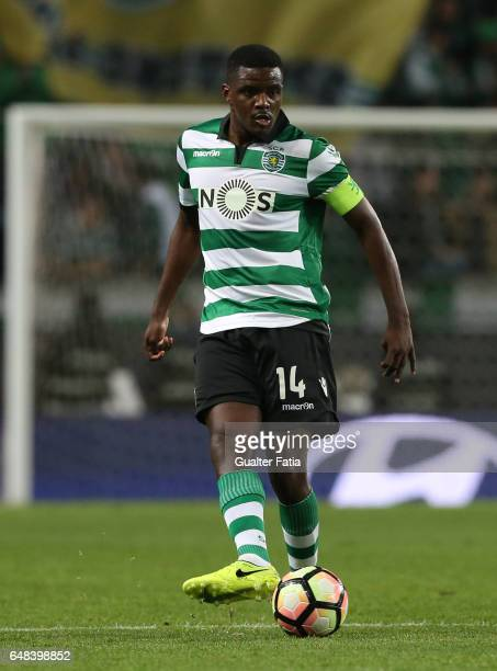 Sporting CP's midfielder William Carvalho from Portugal in action during the Primeira Liga match between Sporting CP and Vitoria Guimaraes at Estadio...
