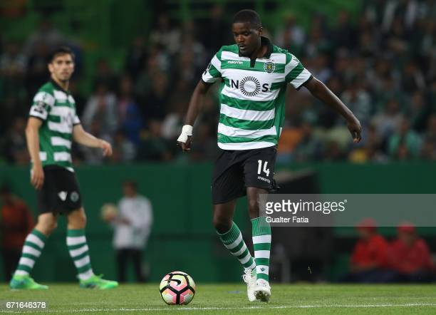 Sporting CPÕs midfielder William Carvalho from Portugal in action during the Primeira Liga match between Sporting CP and SL Benfica at Estadio Jose...