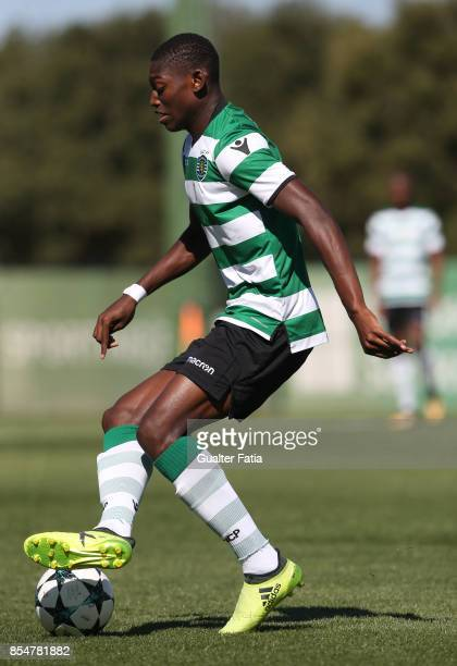 Sporting CP's Rafael Leao in action during the UEFA Youth League match between Sporting CP and FC Barcelona at CGD Stadium Aurelio Pereira on...