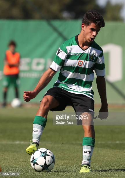 Sporting CP's Tomas Silva in action during the UEFA Youth League match between Sporting CP and FC Barcelona at CGD Stadium Aurelio Pereira on...