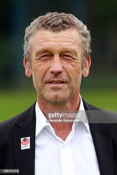 Sporting director Florian Hinterberger of 1860 Muenchen poses during the Second Bundesliga team presentation of TSV 1860 Muenchen on July 11 2012 in...