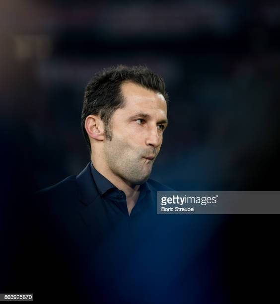 Sporting director Hasan Salihamidzic looks on prior to the UEFA Champions League group B match between Bayern Muenchen and Celtic FC at Allianz Arena...
