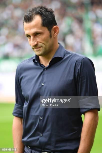 Sporting director Hasan Salihamidzic of Bayern Muenchen ahead of the Bundesliga match between SV Werder Bremen and FC Bayern Muenchen at Weserstadion...
