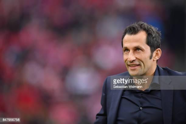 Sporting director Hasan Salihamidzic of FC Bayern Muenchen gives an interview before the Bundesliga match between FC Bayern Muenchen and 1 FSV Mainz...