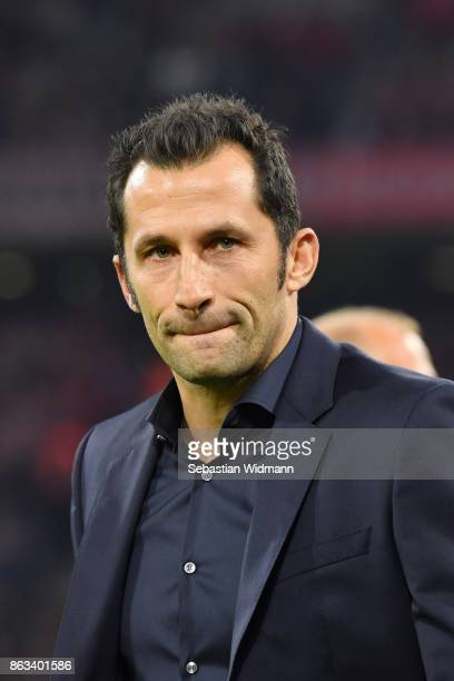 Sporting director Hasan Salihamidzic of FC Bayern Muenchen looks on prior to the UEFA Champions League group B match between Bayern Muenchen and...