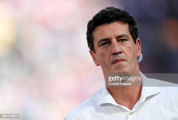 Sporting director Jens Todt of Hamburger SV is seen during the Bundesliga match between 1 FSV Mainz 05 and Hamburger SV at Opel Arena on October 14...