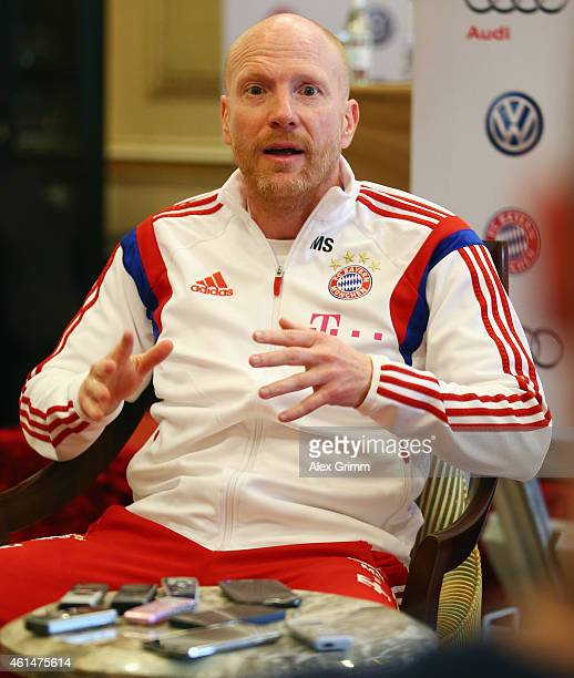 Sporting director Matthias Sammer attends a press conference during day 5 of the Bayern Muenchen training camp at ASPIRE Academy for Sports...