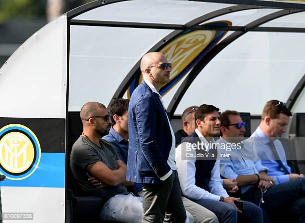 Sporting Director Piero Ausilio looks on during the FC Internazionale training session at the club's training ground at Appiano Gentile on September...
