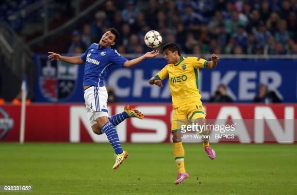 Sporting Lisbon's Fredy Montero and Schalke's Kaan Ayhan