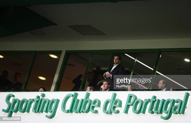 Sporting's chairman Bruno de Carvalho is seen during the Portuguese League football match between Sporting CP and FC Porto at Jose Alvalade Stadium...