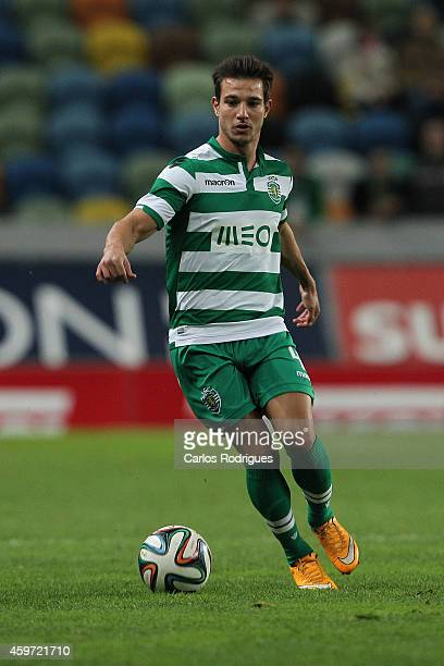 Sporting's defender Cedric during the Primeira Liga Portugal match between Sporting CP and Vitoria Setubal at Estadio Jose Alvalade on November 29...