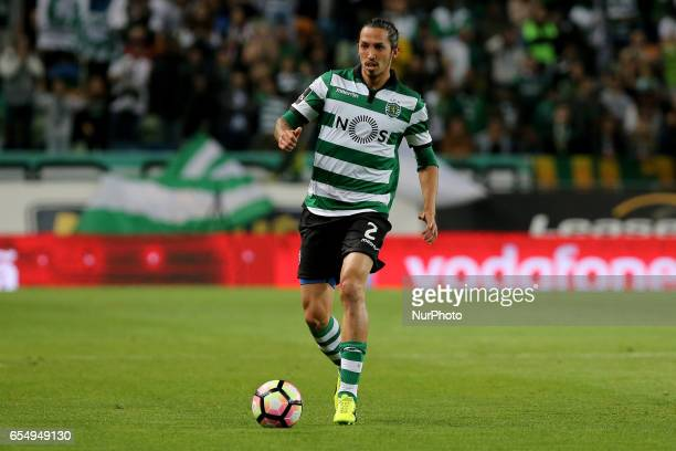 Sportings defender Ezequiel Schelotto from Italy during Premier League 2016/17 match between Sporting CP and CD Nacional at Alvalade Stadium in...