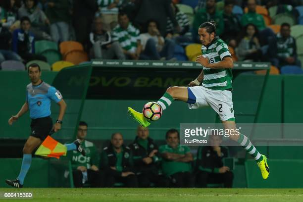 Sportings defender Ezequiel Schelotto from Italy during Premier League 2016/17 match between Sporting CP and Boavista FC at Alvalade Stadium in...
