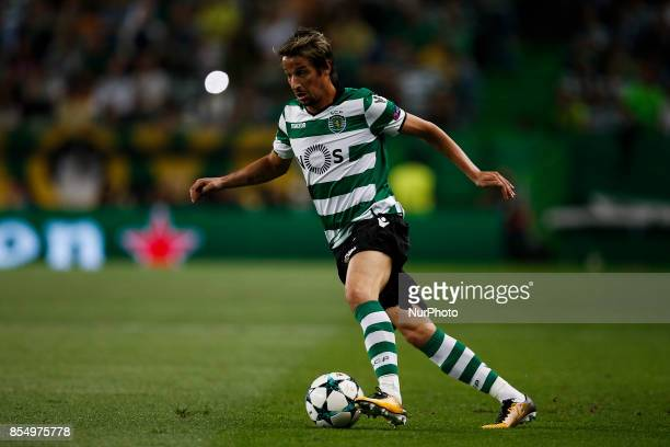 Sporting's defender Fabio Coentrao in action during the Champions League 2017/18 match between Sporting CP vs FC Barcelona in Lisbon on September 27...