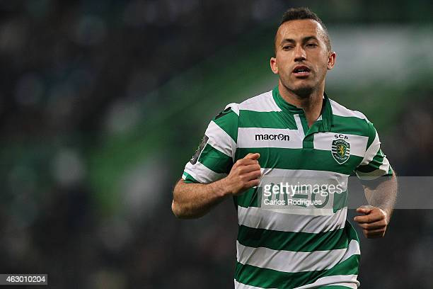 Sporting's defender Jefferson during the Primeira Liga match between Sporting CP and SL Benfica at Estadio Jose Alvalade on February 08 2015 in...
